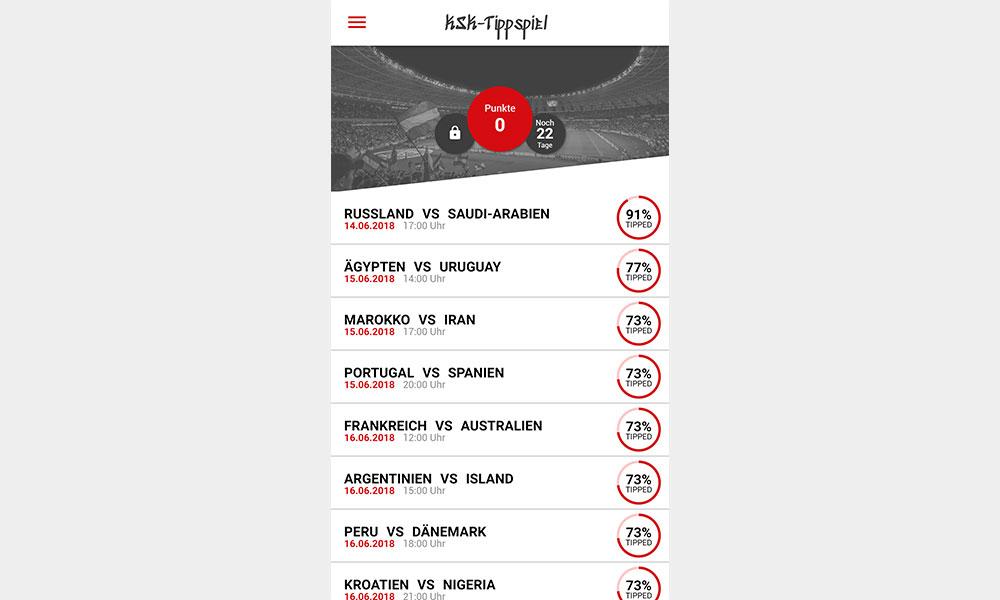 Referenzbild - WM-Tippspiel App